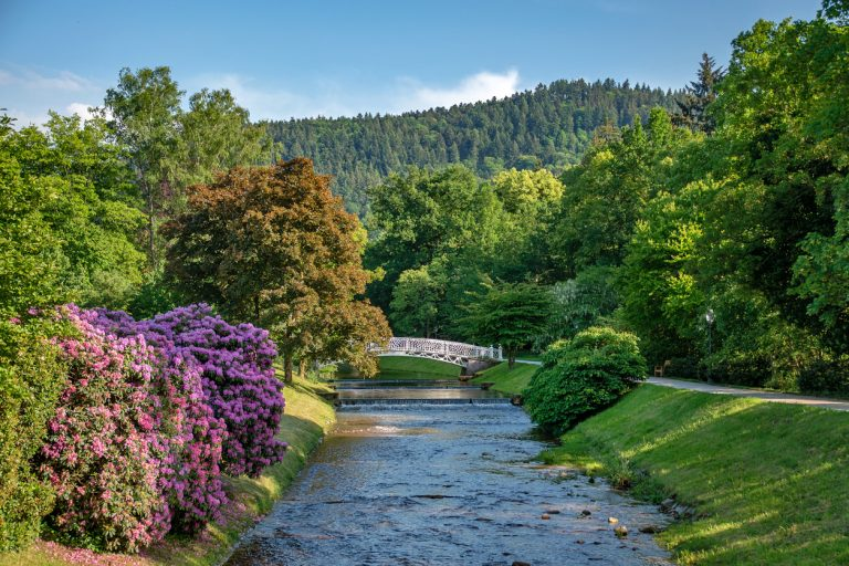 Baden Baden city river, Germany, by Art In Voyage
