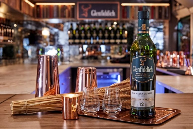 Glenfiddich Whisky with glasses, by Art In Voyage