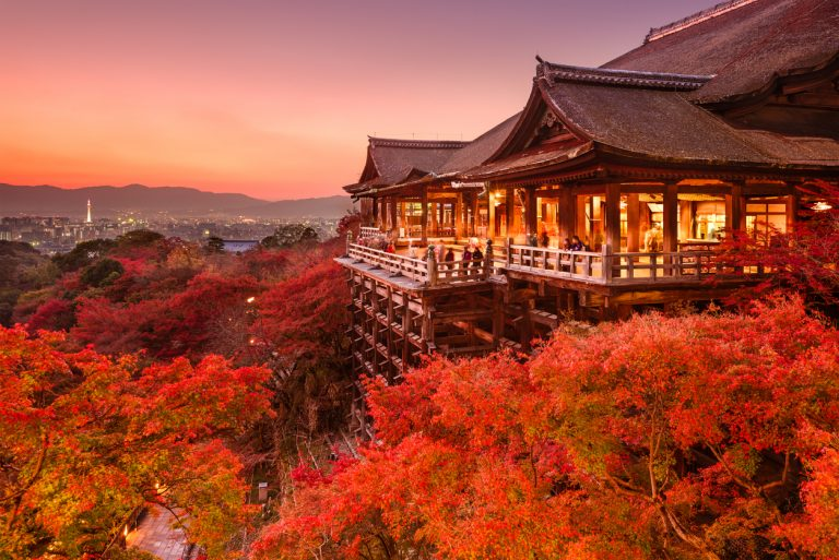 Kiyomizu Temple of Kyoto, Japan, by Art In Voyage