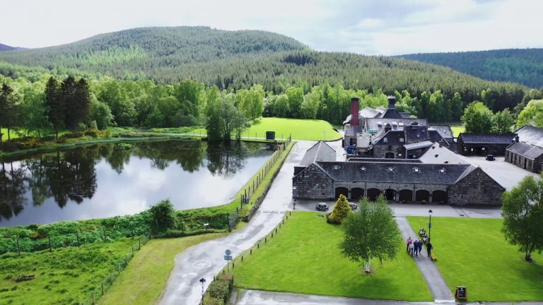 Top view of Lochnagar distillery, by Art In Voyage