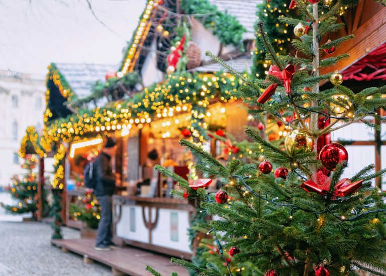 Christmas Market at Opernpalais at Mitte in Winter Berlin, by Art In Voyage