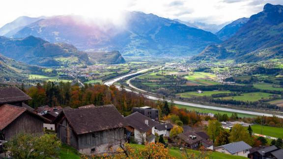 Liechtenstein-Lucerne - 90 miles