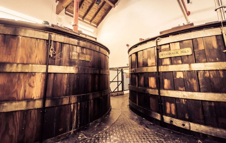 Barrels at the Royal distillery, by Art In Voyage