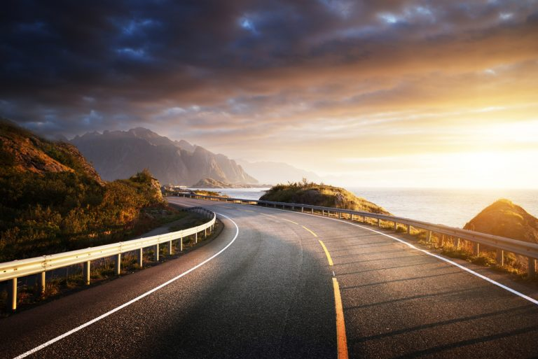 sunset road Europe, by Art In Voyage