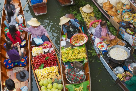 Floating Market, Wat Arun & The Grand Royal Palace